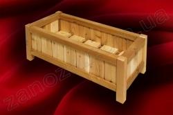 Ящик для цветов деревянный СОСНА (№01)