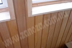 Обшивка стен помещений деревянной вагонкой (Ясень, Дуб)