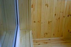 Отделка откосов окон и дверей вагонкой (вертикальная)