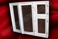Вікно дерев'яне подвійне з роздільною палітурою СОСНА 1350х2070мм