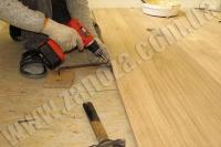 Укладка деревянного пола (ЯСЕНЬ, ДУБ)