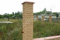 Устройство кирпичных столбов для заборов (Н=1500мм)