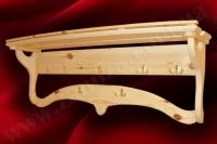 Вешалка настенная деревянная СОСНА L=1000мм (№05)