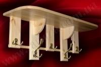 Вешалка настенная деревянная СОСНА L=1000мм (№04)