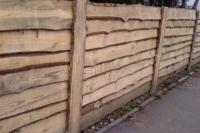 Забор строительный из необрезной доски H=1800mm (№ 01)