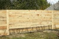 Забор строительный из обрезной доски H=1800mm (№ 03)