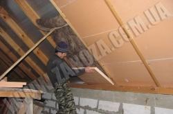 Утепление крыш с досчатой подшивкой