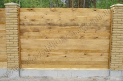 Забор деревянный СОСНА H=1600mm (№11)