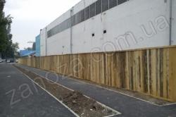 Забор строительный из щитов неокрашенных H=2000mm (№ 02)